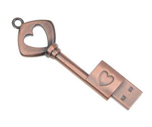 chiave usb cuore